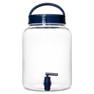 Plastic Round Beverage Dispenser Blue