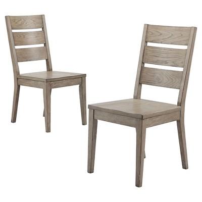 Gilford Slat Back Dining Chair - Gray (Set of 2) - Threshold™