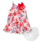 Baby Girls' Floral Dress White 12M - Cherokee®