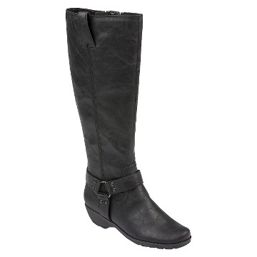 Women's A2 by Aerosoles In An Instint Extendable Calf Riding Boots