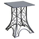 Eiffel Towel Metal Accent Table Gray - Homepop