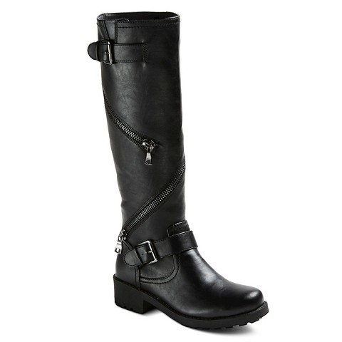 s briar knee high boots with zipper detail target