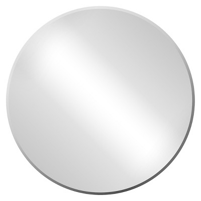 "Frameless Round Mirror 24"" -Threshold™"