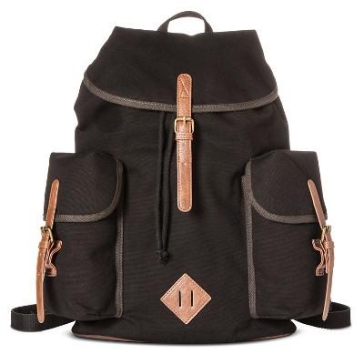 Men's Canvas Backpack Black One Size - Merona™