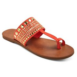 Women S Avianna Metallic Floral Thong Sandals Tevolio