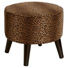 Round Ottoman with Splayed Legs in Cheetah Earth - Skyline Furniture