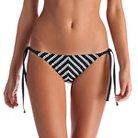 Women's Mitered Stripe String Tie Bikini Bottom - Vitamin A Soleil