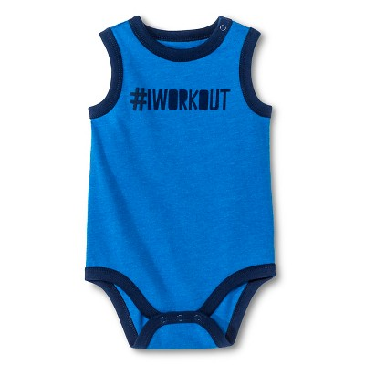Circo™ Baby Boys' Muscle workout Bodysuit - Blue 3-6 M