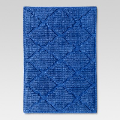 Threshold™ Botanic Bath Mat - Blue Monday