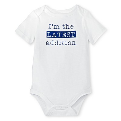 Male Child Bodysuits Circo Bella White NB