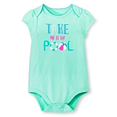 Circo™ Girls' Lap Shoulder Take me to the pool Bodysuit - Green 3-6 M