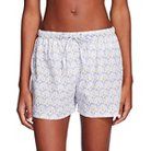 Flora by Rockflowerpaper Women's Woven Sleep Pajama Shorts - Oasis Blue S
