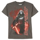 Boys' Star Wars Kylo Flames Short Sleeve Tee - Charcoal M