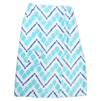 Diamond Chevron Cool Bath Wrap Turquoise Xhilaration™