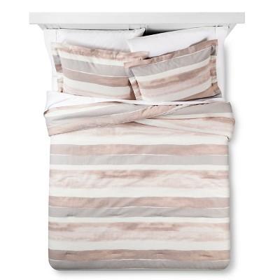 Painterly Stripe Comforter & Sham Set (King) Red 3pc - Nate Berkus™