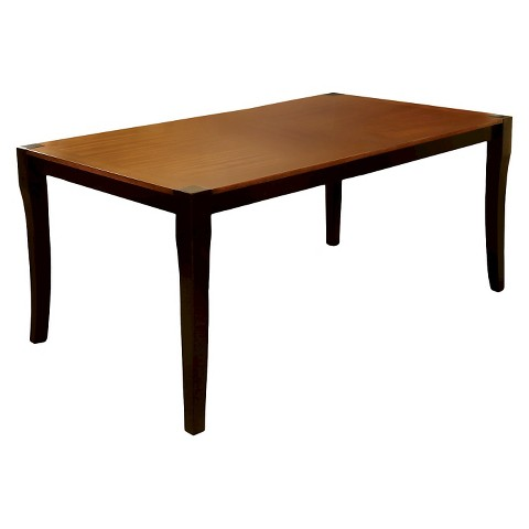 Dining Table Wood Acacia And Black Furniture Of America Product