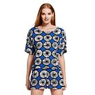 Marimekko for Target Women's Top - Appelsiini Print - Blue XS