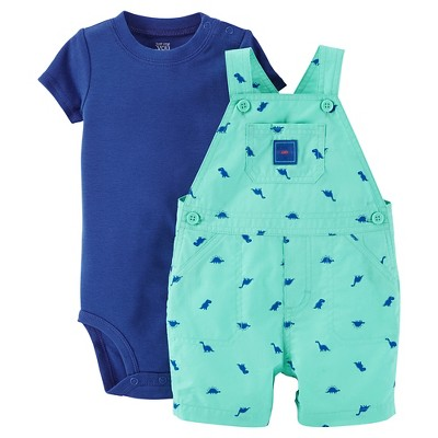 Just One You™Made by Carter's® Newborn Boys' Dino Shortall - Green/Blue 3M