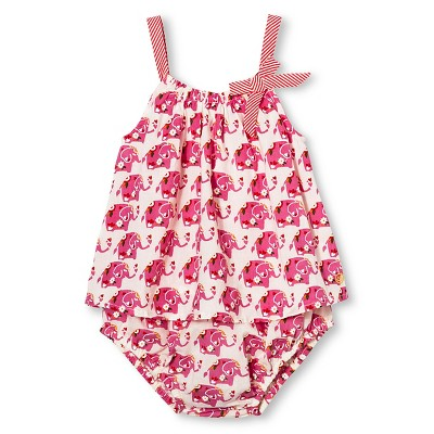 Happy by Pink Chicken Baby Girls' Elephant Print 2-Piece Set - Pink 6-12M