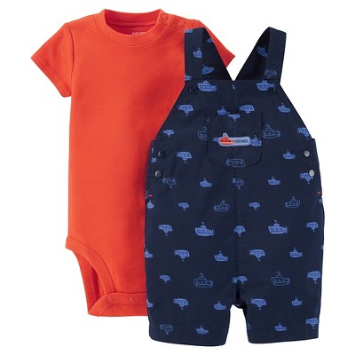 Just One You™Made by Carter's® Newborn Boys' Submarine Shortall - Orange/Blue NB