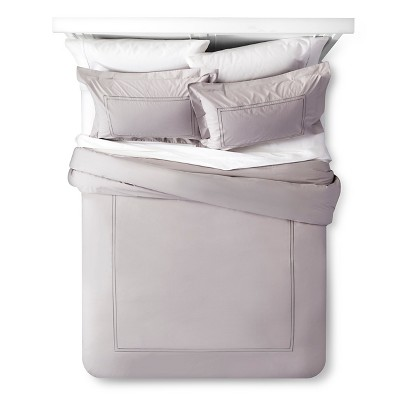 Classic Hotel Comforter Set (Queen) Gray 3pc - Fieldcrest™