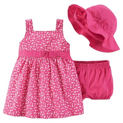 Just One You™Made by Carter's® Newborn Girls' Giraffe Dress & Hat Set - Pink NB