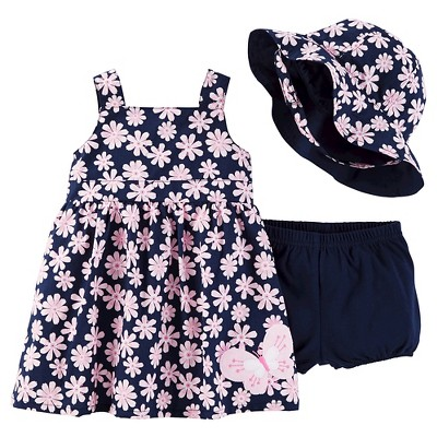 Just One You™Made by Carter's® Newborn Girls' Floral Butterfly Dress & Hat Set - Green/Pink 6M