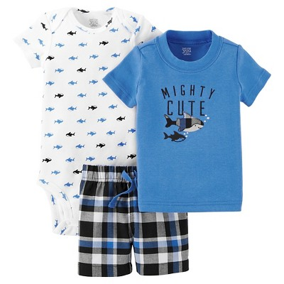 Just One You™Made by Carter's® Newborn Boys' Diaper Cover Set - Blue/Black 12M