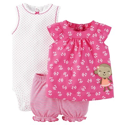 Just One You™Made by Carter's® Newborn Girls' Diaper Cover Set - Pink/Orange 18M
