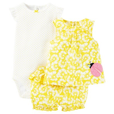 Just One You™Made by Carter's® Newborn Girls' Diaper Cover Set - Yellow/White 6M