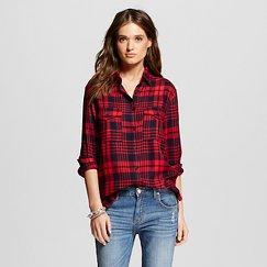 Women's Cargo Patch Plaid Shirt - K by Kersh