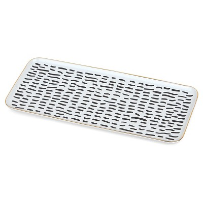 Loft by Umbra™ Rectangular Ceramic Jewelry Dish - White