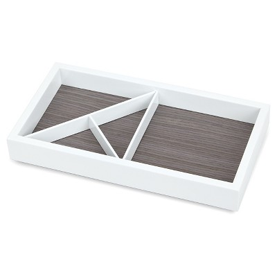 Loft by Umbra™ Rectangular Wooden Jewelry Tray - White/Grey