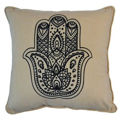 "Hamsa Hand Pillow - 16""x16"" - Black&White - HOT NOW®"