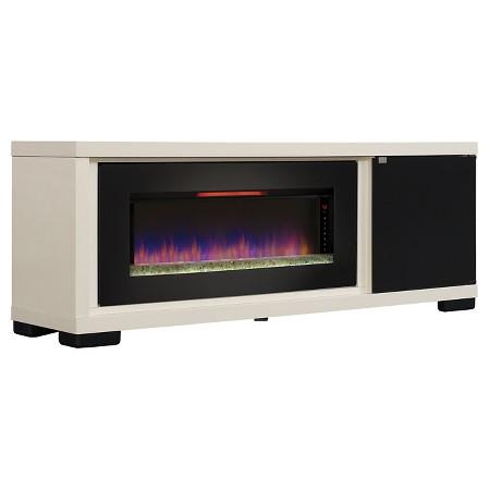 brickell contemporary tv stand with infrared quartz