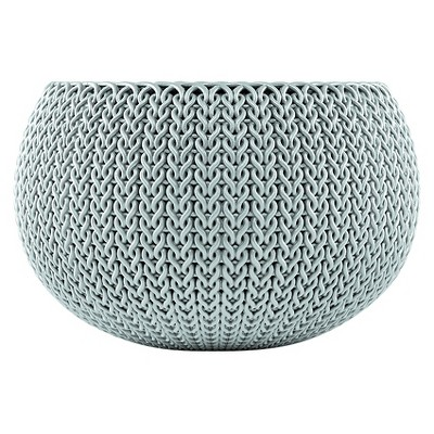 Curver Small Knit Cozie Planter - Green/Blue Mist