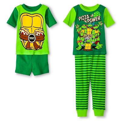 Nickelodeon® Teenage Mutant Ninja Turtles Toddler Boys' 4-Piece Pajama Set Green 2T