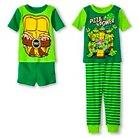 Nickelodeon® Teenage Mutant Ninja Turtles Toddler Boys' 4-Piece Pajama Set Green