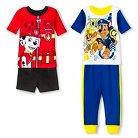 Paw Patrol Toddler Boys' 4-Piece Pajama Set Multicolored