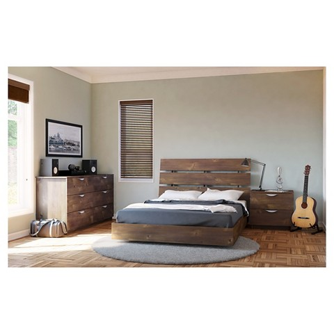 nexera nocce twin size bedroom set truffle target