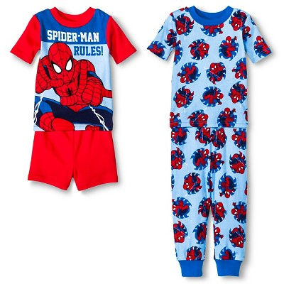 Spiderman Toddler Boys' 4-Piece Pajama Set Red 12M