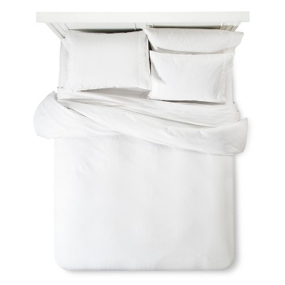 Modern Hotel Duvet & Sham Set Queen - White Fieldcrest Luxury™