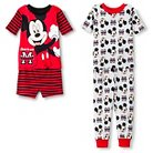 Mickey Mouse Toddler Boys' 4-Piece Pajama Set Red