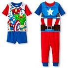 Marvel Captain America Toddler Boys' 4-Piece Pajama Set Blue