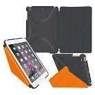 Roocase iPad Mini 3 2 1 Origami 3D Case - Space Gray / Orange