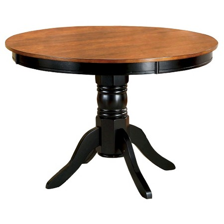 pedestal round dining table wood antique oak and black furniture of