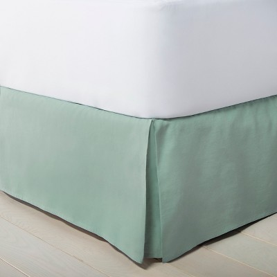 Linen Hem Stitch Bedskirt Queen - Green - Fieldcrest™