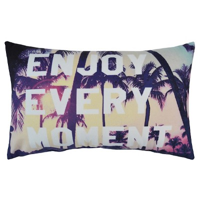 "Enjoy Every Moment Pillow - 10""x16"" - Multicolor - HOT NOW®"