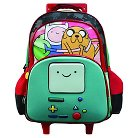 """Adventure Time 16"""" BMO 3D Rolling Kids Backpack - Multicolor"""