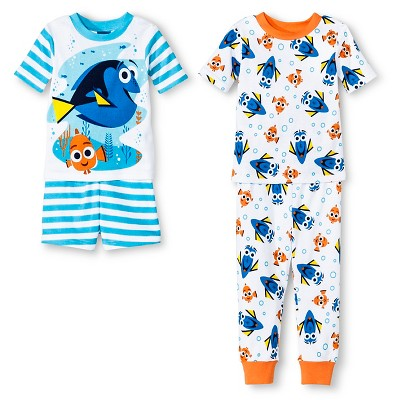 Finding Dory Toddler Boys' 4-Piece Pajama Set Blue 12M